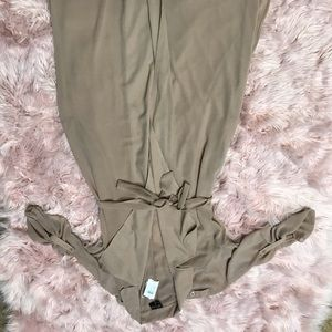 Beautiful tan duster with pocket large NWT